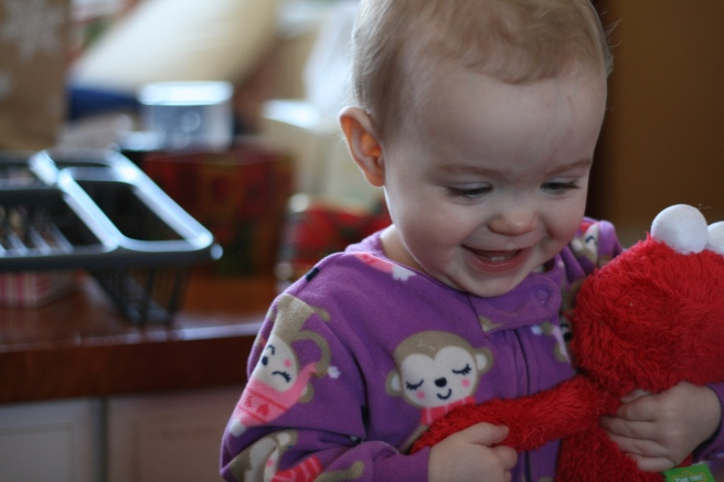 Did I mention you are smitten with Elmo?