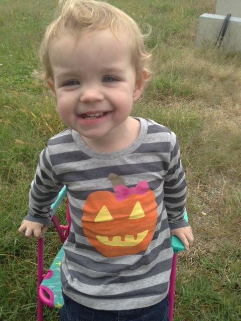 Instead of a trip to the pumpkin patch, Lettie got to hang out at the gas station all morning. Wooooo!