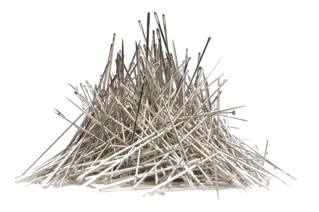needles-white-background